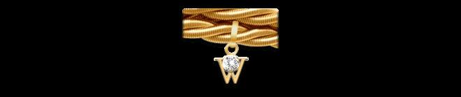 Armband Wellendorff Silky Quartett aus 750 Gelbgold mit 1 Brillant (0,017 Karat)