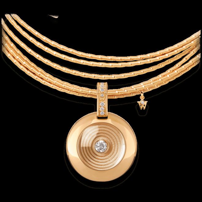 Amulett Wellendorff Goldschatz aus 750 Gelbgold mit mehreren Brillanten (0,37 Karat) und 1 Topas