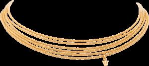 Collier Wellendorff Sonnenglanzfächer aus 750 Gelbgold mit 1 Brillant (0,098 Karat)