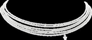 Collier Wellendorff Sonnenglanzfächer aus 750 Weißgold mit 1 Brillant (0,098 Karat)