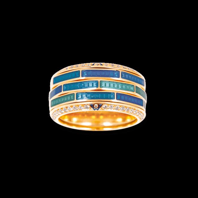 Ring Wellendorff Wasserspiel aus 750 Gelbgold mit mehreren Brillanten (0,724 Karat)