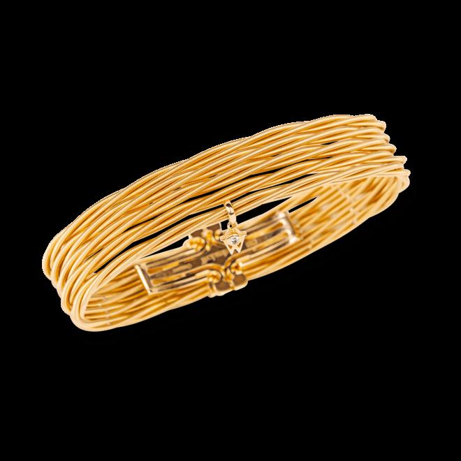 Armband Wellendorff Zartes Glück aus 750 Gelbgold mit 2 Brillanten (0,039 Karat)