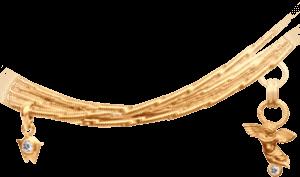 Collier Wellendorff Engelsglanz aus 750 Gelbgold mit 2 Brillanten (0,05 Karat)