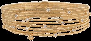 Armband Wellendorff Morgensonne aus 750 Gelbgold mit 18 Brillanten (0,53 Karat)