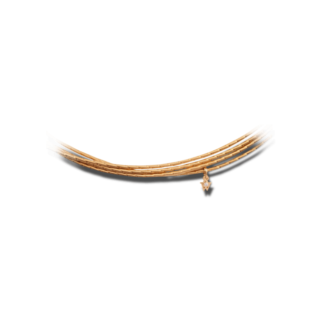 Collier Wellendorff Sonnenglanz klein aus 750 Gelbgold mit 1 Brillant (0,017 Karat)