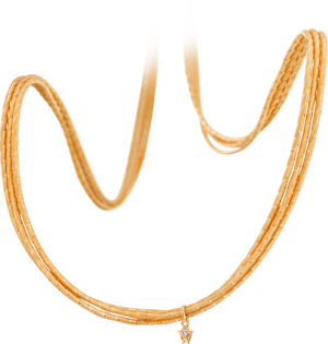 Collier Wellendorff Sonnenglanz Varieté aus 750 Gelbgold mit 1 Brillant (0,017 Karat)