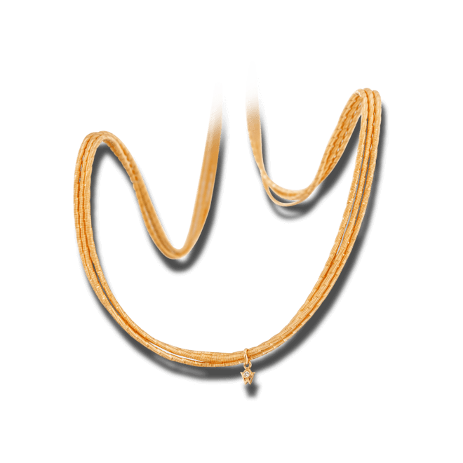 Collier Wellendorff Sonnenglanz Varieté aus 750 Gelbgold mit 1 Brillant (0,017 Karat) bei Brogle