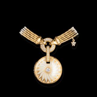 Wellendorff Amulett Bewahre mein Glück Perlmutt-Granat 9.9593_GG