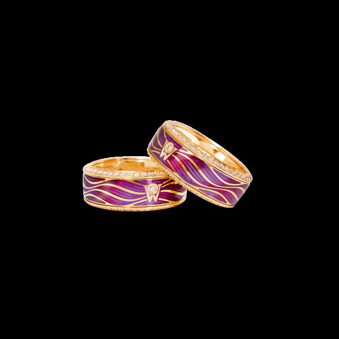 Ring Wellendorff Lebenstraum aus 750 Gelbgold und Wellendorff-Kaltemaille mit mehreren Brillanten (0,753 Karat) bei Brogle
