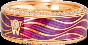 Ring Wellendorff Lebenstraum aus 750 Gelbgold und Wellendorff-Kaltemaille mit mehreren Brillanten (0,753 Karat)