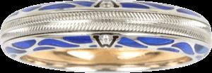 Ring Wellendorff Pures Glück Saphir aus 750 Weißgold mit 2 Brillanten (0,004 Karat)