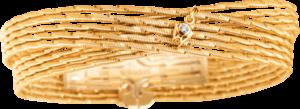 Armband Wellendorff Sonnenglanz Duett aus 750 Gelbgold mit 1 Brillant (0,017 Karat)