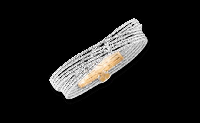 Armband Wellendorff Sonnenglanz Duett aus 750 Weißgold mit 1 Brillant (0,017 Karat)