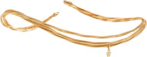Collier Wellendorff Zartes Glück aus 750 Gelbgold mit 1 Brillant (0,017 Karat)