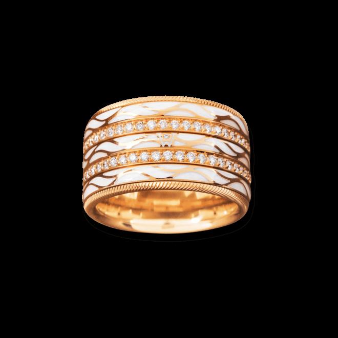 Ring Wellendorff Engel der Liebe aus 750 Gelbgold und Wellendorff-Kaltemaille mit mehreren Brillanten (0,95 Karat) bei Brogle