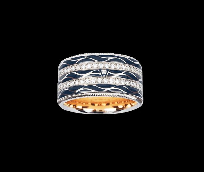 Ring Wellendorff Engel der Nacht aus 750 Weißgold und Wellendorff-Kaltemaille mit mehreren Brillanten (0,942 Karat) bei Brogle