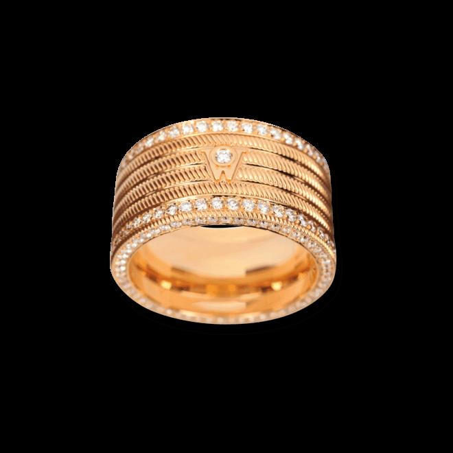 Ring Wellendorff Engelshaar aus 750 Gelbgold mit mehreren Brillanten (1,57 Karat)