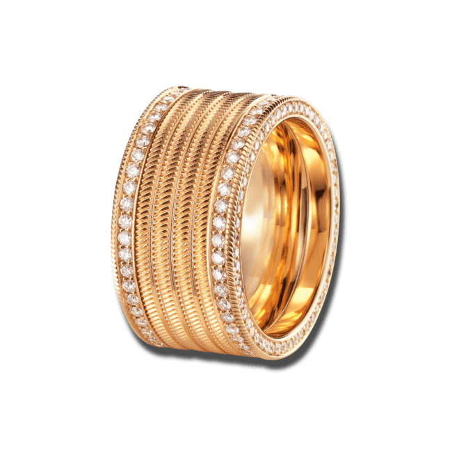 Ring Wellendorff Engelshaar aus 750 Gelbgold mit mehreren Brillanten (1,56 Karat) bei Brogle