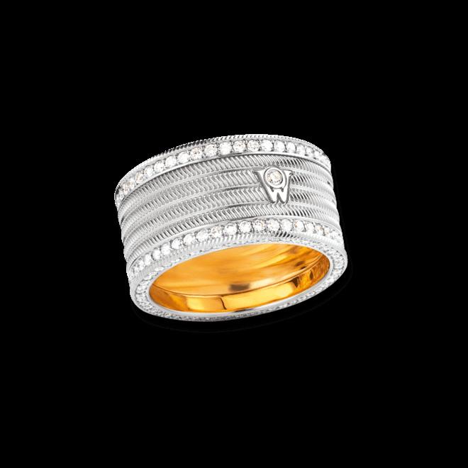 Ring Wellendorff Engelshaar aus 750 Weißgold mit mehreren Brillanten (1,56 Karat)