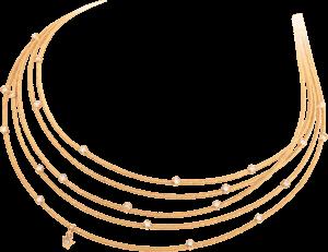 Collier Wellendorff Morgensonne aus 750 Gelbgold mit mehreren Brillanten (0,64 Karat)
