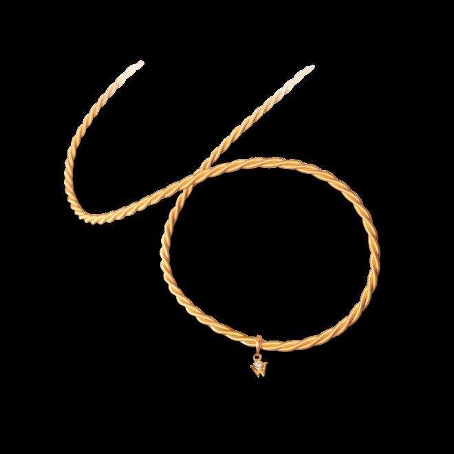 Collier Wellendorff Silky Variete aus 750 Gelbgold mit 1 Brillant (0,017 Karat)
