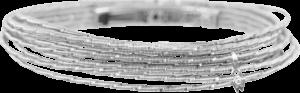 Armband Wellendorff Sonnenglanz klein aus 750 Weißgold mit 1 Brillant (0,017 Karat)