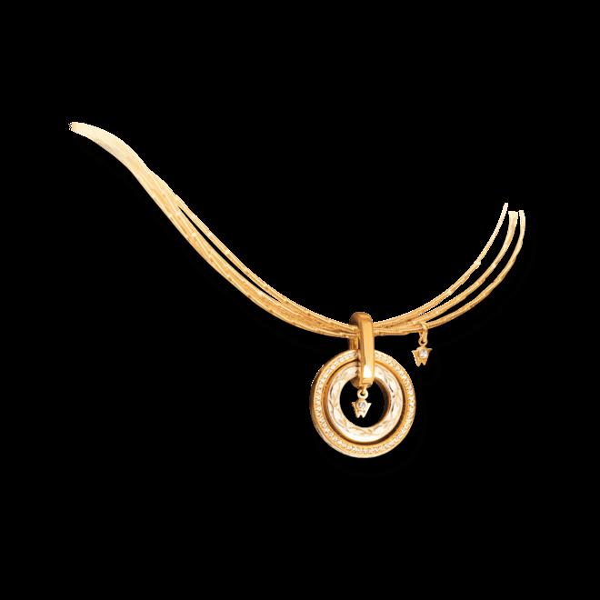 Amulett Wellendorff Süßer Engel aus 750 Gelbgold und Emaille mit mehreren Brillanten (0,29 Karat)