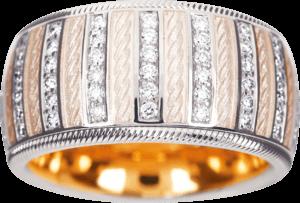Ring Wellendorff Weißer Engel aus 750 Weißgold und Wellendorff-Kaltemaille mit mehreren Brillanten (0,84 Karat)