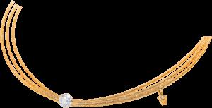 Collier Wellendorff Liebeserklärung aus 750 Gelbgold mit 1 Brillant (1,157 Karat)