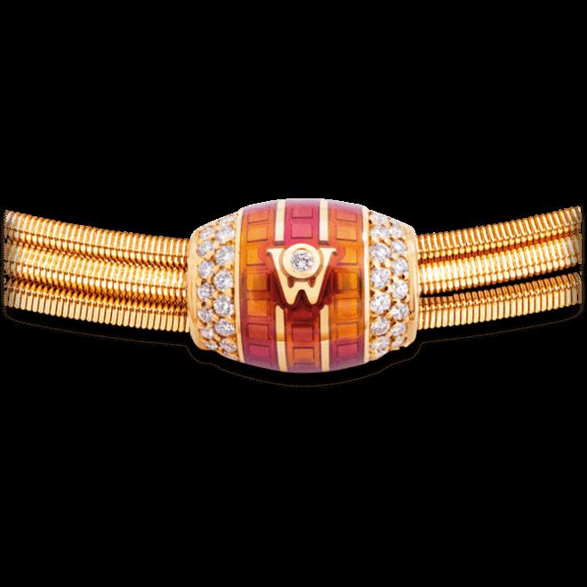 Ronde Wellendorff Sonnenspiel zarte aus 750 Gelbgold und Wellendorff-Kaltemaille mit mehreren Brillanten (0,293 Karat) bei Brogle