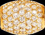 Ronde Wellendorff Sternennacht zarte aus 750 Gelbgold mit mehreren Brillanten (1,071 Karat)