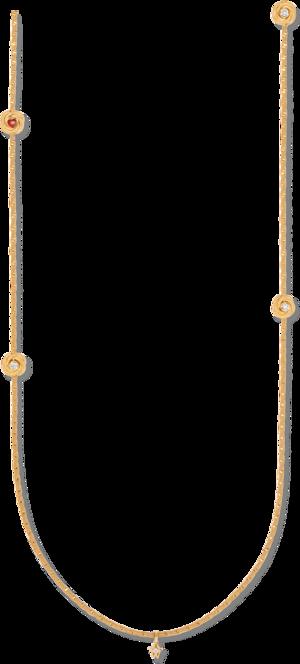 Collier Wellendorff Lebensglück aus 750 Gelbgold mit 3 Brillanten (0,051 Karat) und 1 Wellendorff-Kaltemaille