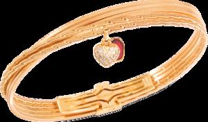 Armband Wellendorff Zweiklang aus 750 Gelbgold mit mehreren Brillanten (0,12 Karat) und 1 Emaille