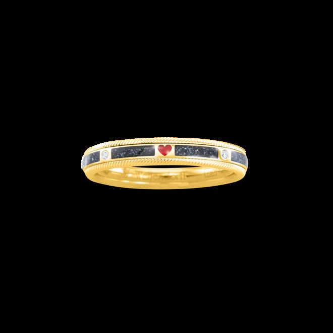 Ring Wellendorff Unsere Liebe. aus 750 Gelbgold mit mehreren Brillanten (0,062 Karat) und Wellendorff-Kaltemaille bei Brogle
