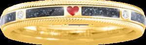 Ring Wellendorff Unsere Liebe. aus 750 Gelbgold mit mehreren Brillanten (0,062 Karat) und Wellendorff-Kaltemaille