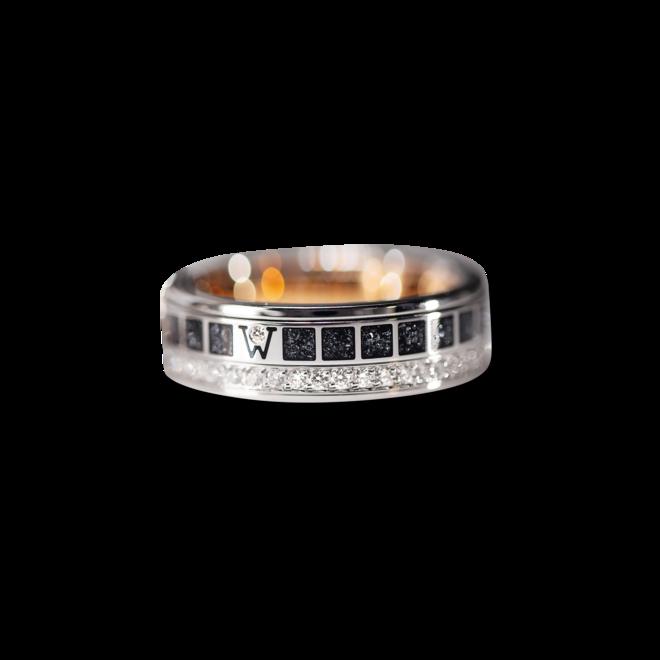 Ring Wellendorff FREIHEIT IST. aus 750 Weißgold, 750 Gelbgold und Wellendorff-Kaltemaille mit 46 Brillanten (0,455 Karat) bei Brogle
