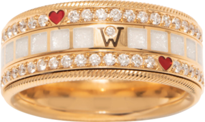 Ring Wellendorff MITEINANDER. aus 750 Gelbgold und Wellendorff-Kaltemaille mit 91 Brillanten (0,905 Karat)