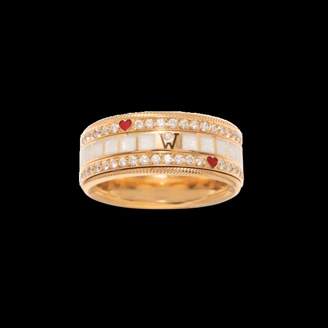 Ring Wellendorff MITEINANDER. aus 750 Gelbgold und Wellendorff-Kaltemaille mit 91 Brillanten (0,905 Karat) bei Brogle