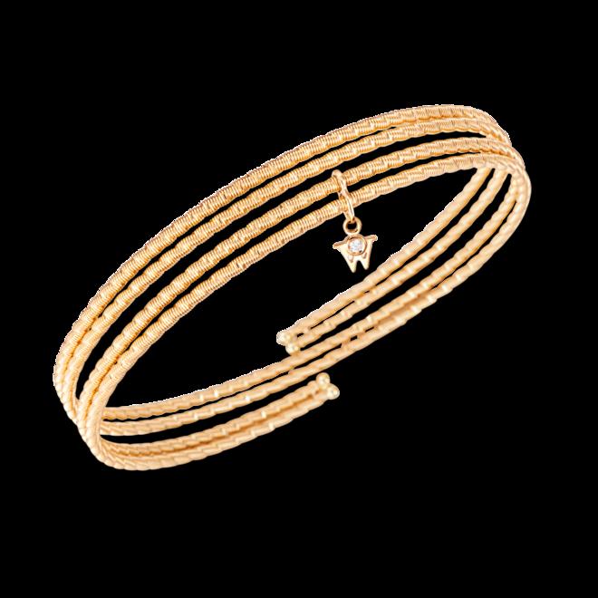 Armband Wellendorff Umarme Mich. Sonnenglanz zart aus 750 Gelbgold mit mehreren Brillanten (0,034 Karat)