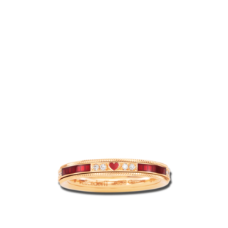 Wellendorff Ring Unser Glück. Rosenrot 6.7260_GG