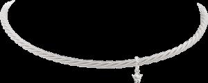 Collier Wellendorff Comtesse aus 750 Weißgold mit 1 Brillant (0,017 Karat)