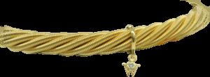 Armband Wellendorff Galaxis aus 750 Gelbgold mit 1 Brillant (0,017 Karat)