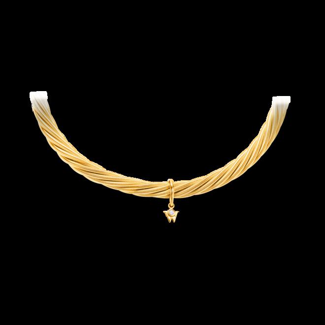 Armband Wellendorff Prinzesse aus 750 Gelbgold mit 1 Brillant (0,017 Karat)