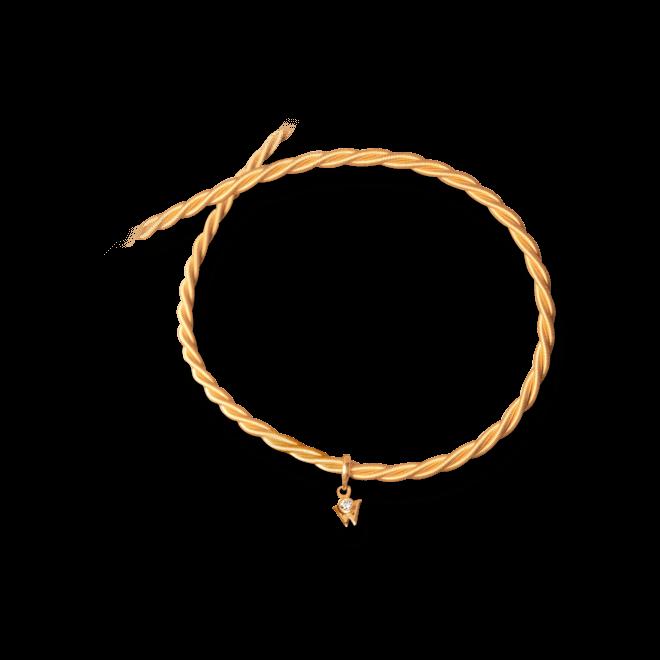 Collier Wellendorff Silky aus 750 Gelbgold mit 1 Brillant (0,017 Karat)
