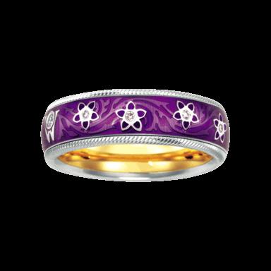 Wellendorff Ring Aubergine 6.6850_WG