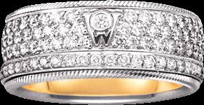 Ring Wellendorff Brillantkuss aus 750 Weißgold mit mehreren Brillanten (2,01 Karat)