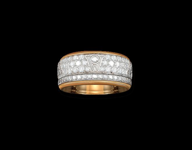 Ring Wellendorff Goldener Brillantkuss aus 750 Weißgold und 750 Gelbgold mit mehreren Brillanten (2,01 Karat) bei Brogle