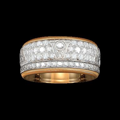 Wellendorff Ring Goldener Brillantkuss 6.6917_GW