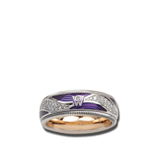 Wellendorff Ring Purpurkuss 6.7075_WG