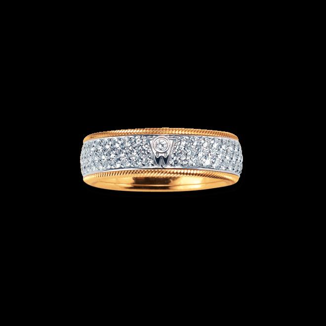 Ring Wellendorff Sternennacht II aus 750 Gelbgold und 750 Weißgold mit mehreren Diamanten (1,66 Karat)